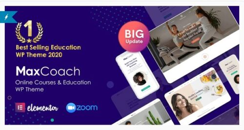 MaxCoach - Online Courses, Personal Coaching & Education WP Theme
