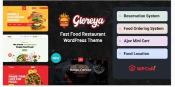 Gloreya Restaurant Fast Food & Delivery WooCommerce Theme