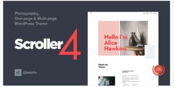 Scroller - Photography One Page Multi-page WordPress Theme