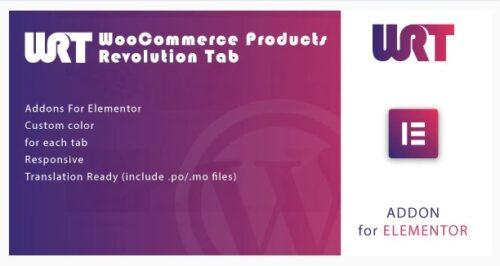 WooCommerce Products Revolution Tab for Elementor WordPress Plugin