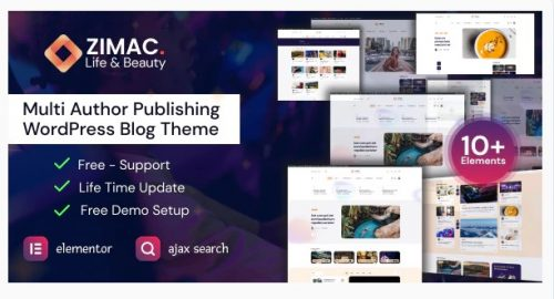 Zimac - Multi Author Publishing WordPress Theme