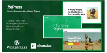 Nonprofit Charity WordPress Theme - ePress